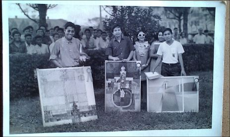 "Glenn Bautista /1968 March – Third Prize, ""Main Building"" (oil); Second Prize - Francis Yap; First Prize, Cesar Sario -357th Anniversary Foundation Day On-the-spot Painting Contest, University of Santo Tomas"