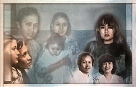 "A ""Digi-Ana Portrait"" of Kuya Jun, Ate July & April. Photo of Ate Julie and April was taken shortly before they left the Philippines for the US."