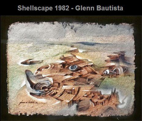 . Shellscape - 1982 / a Cogon Abaca sketch by Glenn A. Bautista http://glenn-studio.artistwebsites.com/featured/shellscape-1982-glenn-bautista.html
