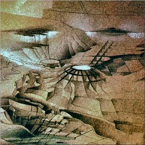 Airport2 1985 - Pastel-pencil series / Kunstakademie, Dusseldorf, Germany