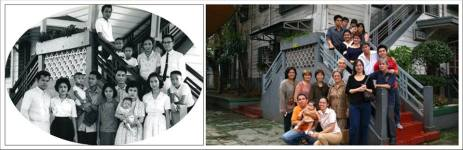 Bautista Family - (before & after) Central Methodist Church Parsonage Stairs