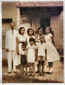 . (front): Glenn, Miriam, Jun (back): Rev. IP Bautista, Eunice ,  Deaconess Eugenia A. Bautista, Loida