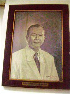 . Portrait of Dr. Gumersindo Garcia - by Glenn A. Bautista / Exhibited at the Gumersindo Garcia Hall, Central United Methodist Church, Ermita, Manila, Philippines