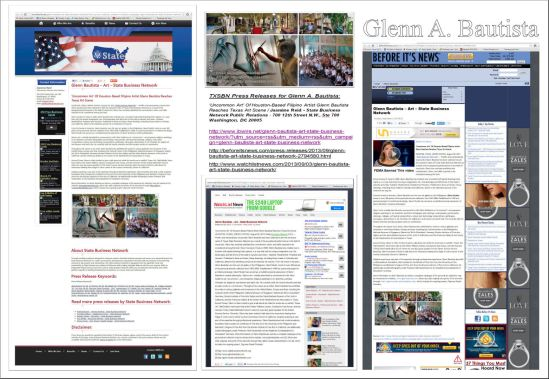 TXSBN Press Releases 2013 / Visual Artist - Glenn A. Bautista