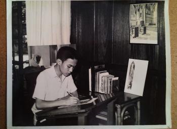 Glenn sketching