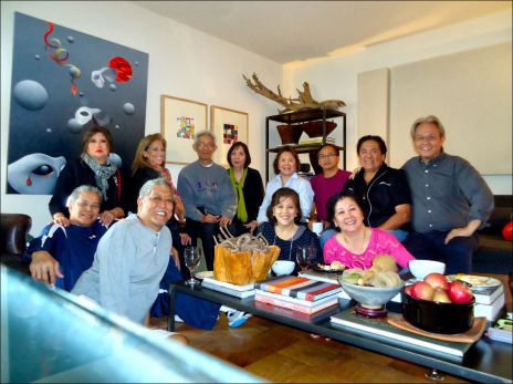 . Leon Mayo 9:01 AM (8 hours ago) to Yahoogp, AA, me, citizenkate, Fiel  The Saga Continues . . . Yesterday, the Manhattan CAFAs had a get together at Chelsea (on 23 St.) upon the invitation of Rody Picar.  Tong and Rita hosted the lunch at 'Spice', an Asian fusion resto.  After the great lunch the guys proceeded to Rody's nearby pad for coffee.  Apart from Rody, the guys were:  Eileen, Rudy and Cindy, Romy and Rori, Nore and Didi, Tong and Rita, Bili and Oni.  Howi, was a able to join only after work but still in time to catch remnants of Rody's delectable coffee and sweets fare.     After talking about the people who were not there, the group agreed to have an excursion on Saturday. The destination will be Poconos (Pennsylvania) in Rody and Howi's vacation home.  Paging Tito and Sam, please get in touch with Rody, Tong or Rita for the details or forever hold your piece. Also, can anyone bring a guitar para masaya ? Check out the attached photos.