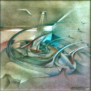 Kohlrabbiscape 1982 - by Glenn A. Bautista / pastel-pencil series / Kunstakademie, Dusseldorf, Germany