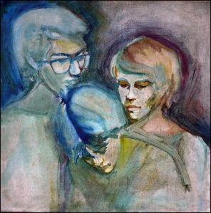 ". Oil Portrait by Armand ""Bim"" Bacaltos / Noli Garalde, Glenn Bautista, Sammy Santamaria"
