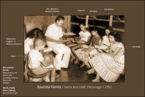 Family Bible Study / led by my father, Rev. Ignacio P. Bautista / Wesley Methodist Church, Santa Ana, Manila, Philippines - ca - 1952