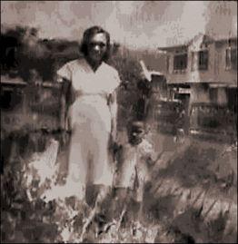 ".  Mother ""Enyang"" and Glenn / Olongapo, Zambales, Philippines"